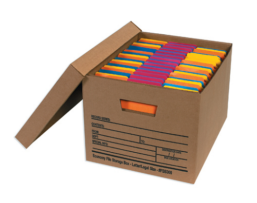Storage boxes file boxes filling boxes pack secure for Secure document storage box